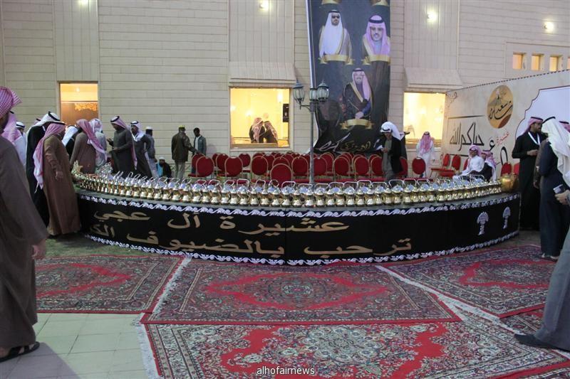 حفل عشيرة ال عجي تكريماً للعافي الشيخ سعد بن صايل الغضوري
