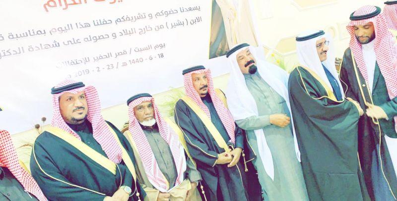 حفل عبيد ضيف الله الدبلان لأبنه الدكتور بشير