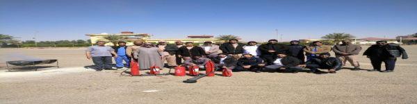الاستاذ / سليمان بن عبدالله العامر يقيم برنامج عن مكافحة الحرائق
